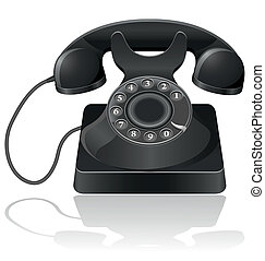 old phone vector illustration isolated on white background