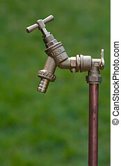stand pipe on grass background