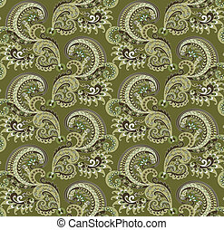 Combined ornate pattern - ornate pattern of small flowers...