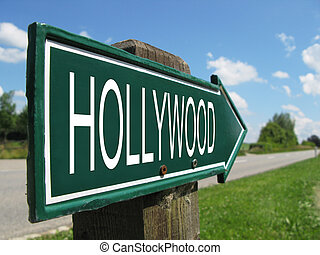 HOLLYWOOD road sign