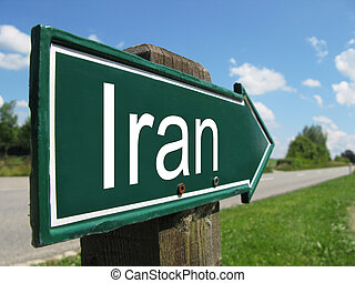 IRAN road sign