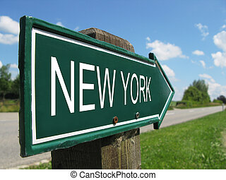 NEW YORK road sign