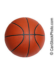 Basketball isolated on white with clipping path - An...