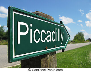 PICCADILLY road sign