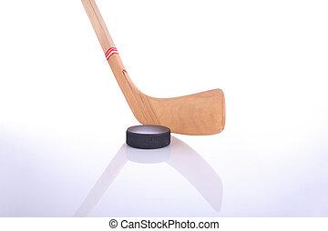 reflektierend, kobold,  Hockey, Oberfläche, Stock