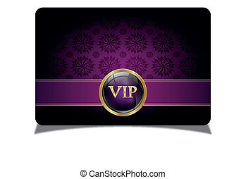 Purple vip card
