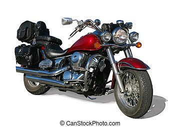 motorcycle on white background - powerful modern motorcycle...