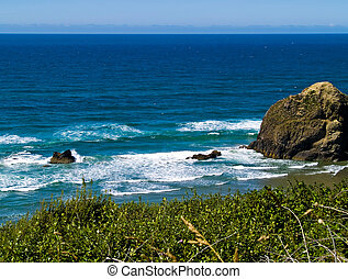 Rugged Rocky Beach on the Oregon Coast Overlook