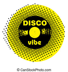 disco vibe stamp - retro party music stamp for a night club...
