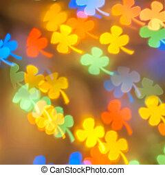 Colorful flower bokeh