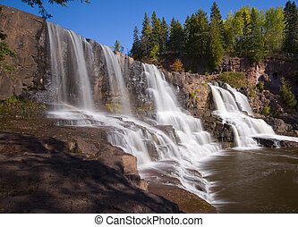 Middle Gooseberry Falls along the North shore of Lake...