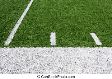 American Football Field Yard Lines - Yard Lines of a...