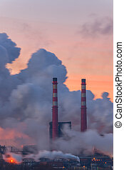 Pipes and polluting smoke-2