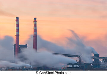 Pipes and polluting smoke-4