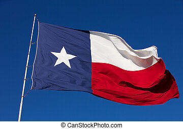 Flag of the State of Texas - State Flag of Texas waving in...