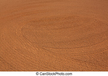 Baseball Infield Dirt Patterns - Patterns of the Infield...