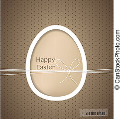 Easter egg, happy easter card Vector illustration