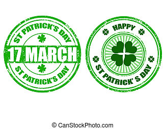 Set of St.Patrick's day stamps