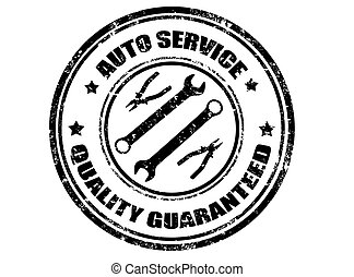 Auto service stamp - Auto service grunge rubber stamp,vector...