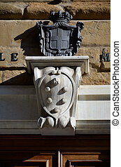 Coat of arms at the entrance of the Medici Chapels, Florence...