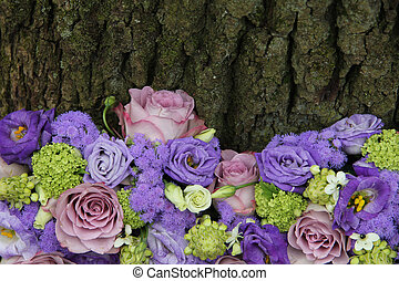 Mixed purple arrangement - Mixed purple floral arrangement...