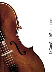 Cello over /White - Cello in closeup over white background.