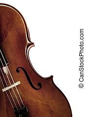 Cello over /White - Cello in closeup over white background.