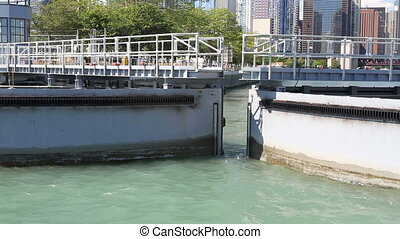 Chicago Harbor Lock (Two Shots)