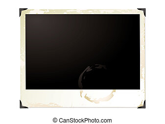 large grunge polaroid - Wide screen grunge polaroid with...