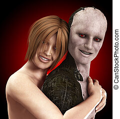 Borg Love  - Women in love with a cybernetic man.