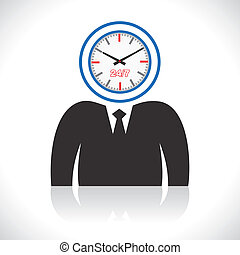 clock men head stock vector