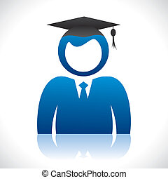graduate student with cap - blue graduate student with...