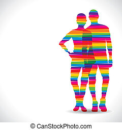 color dress in couple