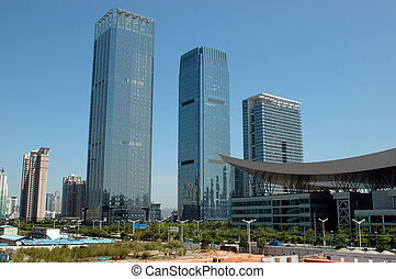 Chinese skyscrapers - China, Guangdong province, Shenzhen...