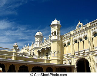 Mysore palace building - A majestic building of an old and...