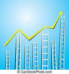 graph design with stair up down - market graph design with...