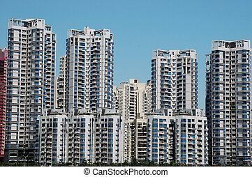 Residential buildings in China - China, Guangdong province,...