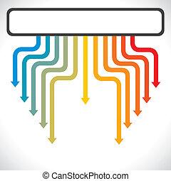 color arrow move down