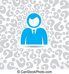 men with question mark background - blue men with question...