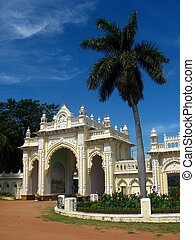 Royal gate of Mysore Palace - A royal south side gate of a...