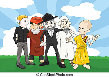 Different religion people - A vector illustration of people...