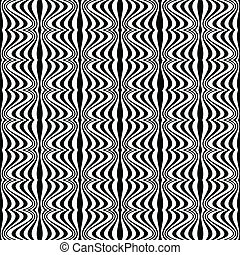Pattern - Optical illusion with geometric drawing