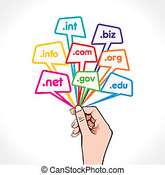 domain name in hand - different domain name in hand stock...