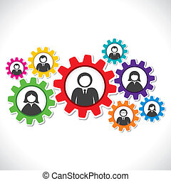 businessmen in colorful gear - businessmen connect to every...