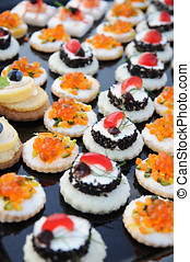 Display of colourful appetizers - Display of colourful...