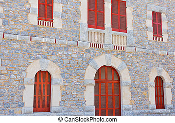 Historical building - Detail of the front of a historical...