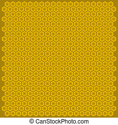 Vector bee hive cell hexagon figure color background