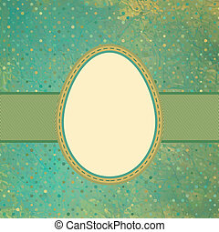 Egg on polka dot background. EPS 8