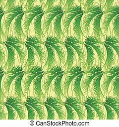 Seamless background, palm leaves - Seamless background,...