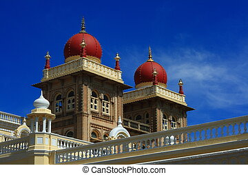 Mysore palace-II - A top portion of a Royal Indian Mysore...